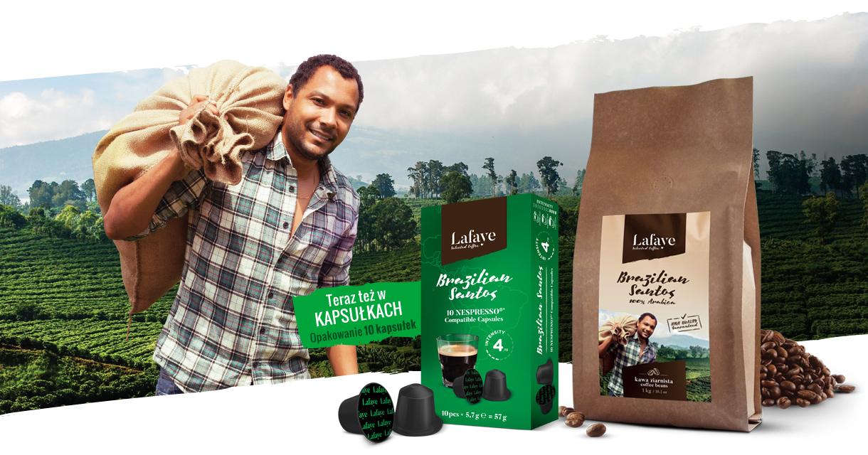 Brazilian Santos - klasyczny uniwersalny smak kawy, prosto z palarni kawy LAFAYE