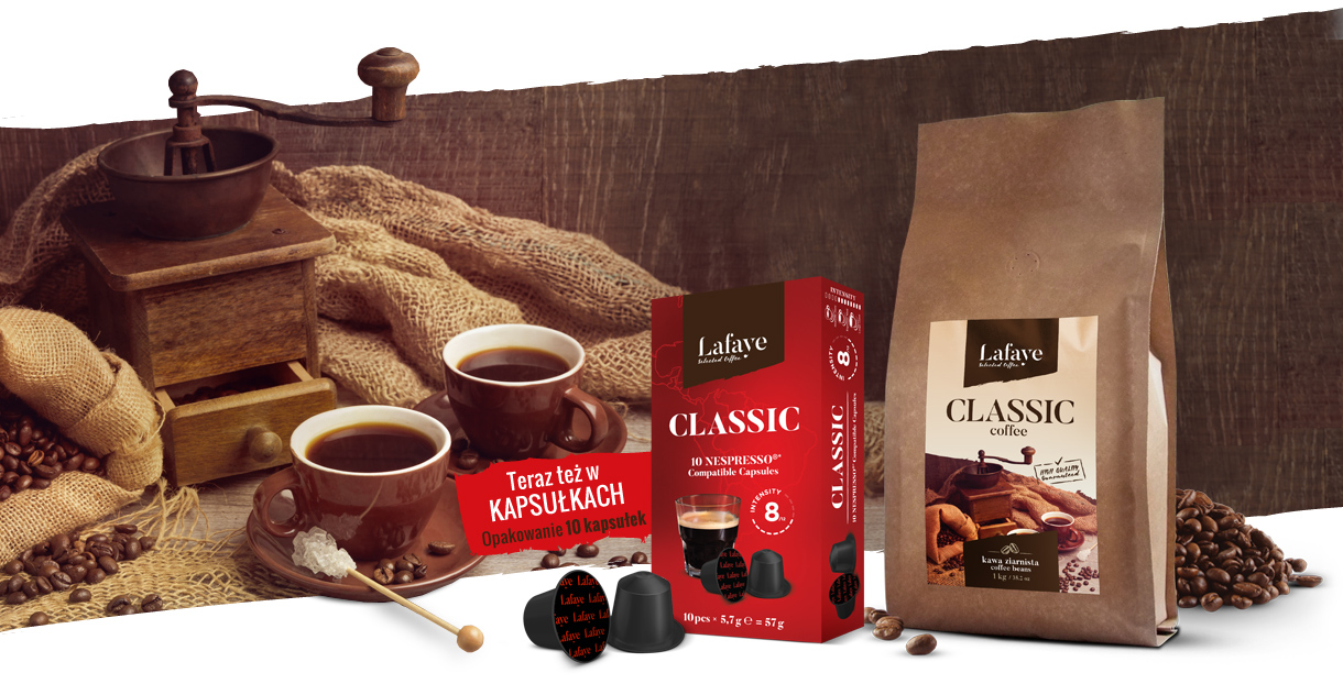 Kawa CLASSIC Lafaye - palarnia kawy w Bydgoszczy