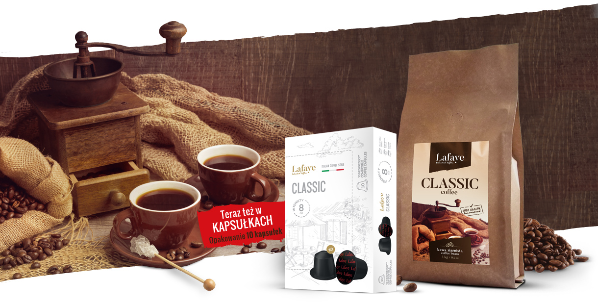 klasyczny smak kawy z Palarni Lafaye